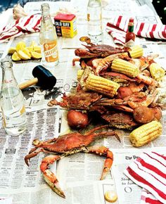 Crab boil.  An absolute event at our house!