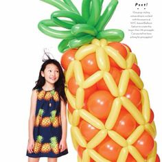 Pineapple Love!  Presenting J. Crew's amazing giant fruit balloon from their July catalog #jcrewstyleguide