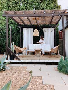Backyard Patio Designs, Pergola With Roof, Backyard Pergola, Pergola Designs, Backyard Landscaping, Covered Pergola Patio, Pergola Shade, Design Jardin, Garden Design