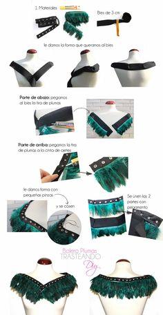 TRASTEANDO... DIY: DIY BOLERO DE PLUMAS