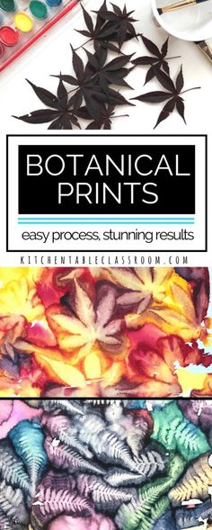 The intricacies and beauty found in nature are hard for artists of any age to replicate. These easy botanical prints let nature do the hard work! These nature prints use leaves to make prints.