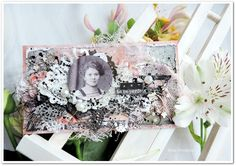 Vintage card - project made by Elena Tretiakova for More Than Words  http://elena-3cards.blogspot.ru