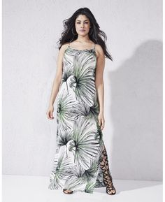 Palm Print Trapeze Maxi Dress available in Tribal Print Dressy Outfits, Fashion Outfits, Plus Zise, Trendy Plus Size Fashion, Plus Size Maxi Dresses, Plus Size Wedding, Classy And Fabulous, Trendy Tops, Street Chic