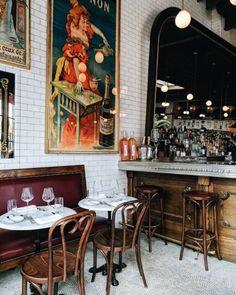 Boucherie NYC a little taste of Paris Restaurant Week, Restaurant Design, Restaurant Interiors, Brasserie Paris, Parisian Cafe, Bar Design, Bistro Chairs, Dream Decor, Architecture