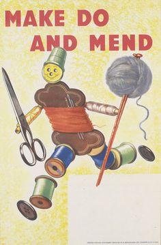 Make Do and Mend Second World War poster | © IWM