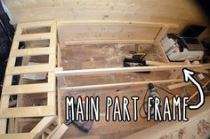 Building main part of bed frame