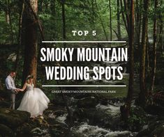 Top 5 Great Smoky Mountains National Park wedding venues and best elopement locations for engaged couples to have an adventure wedding. Source by jophotos