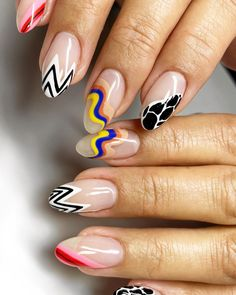 Looking for new manicure colors for this season? These are the best nail polish colors for summer 2020. Cute Gel Nails, Funky Nails, Pretty Nails, Funky Nail Art, Nail Design Stiletto, Nail Design Glitter, Nail Jewels, Nail Manicure, Manicure Colors