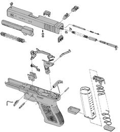 glock diagram gunsmithing pinterest guns firearms and weapons rh pinterest com glock 40 parts glock 40 cal diagram