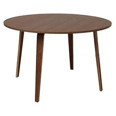 Bring classic mid-century looks to the centre of your dining room with the dark finish of the Belle Walnut Dining Table from Life Interiors.