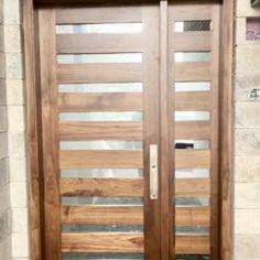 Side Light Entry Doors | Amberwood Doors Inc. Double Doors Exterior, Wooden Main Door Design, Entry Doors, Front Doors, Wooden Doors, Custom Design, New Homes, House Design, Front Porches