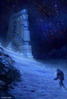 lone wolf by ramtin-s   Digital Art / Drawings & Paintings / Sci-Fi   Futuristic architecture mechanized soldier