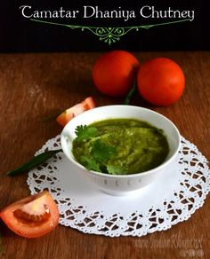 Tamatar Dhaniya Ki Chutney   Tomato Cilantro Chutney Recipe
