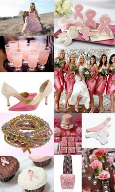 A breast cancer themed wedding. Haha this would so be me.
