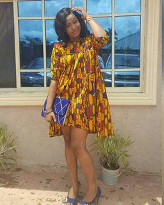Trending Short Ankara Gowns 2018 By short native gown we mean short Ankara dress styles. We are really into short pieces right now because they are comfortable and airy. Short Ankara Dresses, Ankara Dress Styles, Ankara Gowns, African Print Dresses, Latest Ankara Styles, African Print Fashion, African Dress, African Clothes, African Prints
