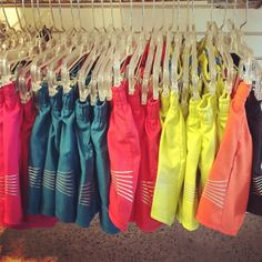 Our version of rainbow.  I can only order Oiselle online currently as I live far from any retail locations... Love seeing a display!
