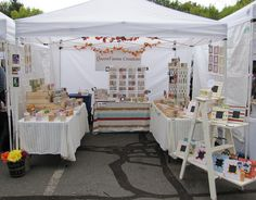 Step ladder display for a craft fair
