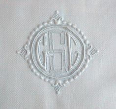 """Superb and Elaborate Large White Linen Antique Towel Embroidered with Exquisite Buratto Whitework """"CSG"""" or """"GSG"""" monogram, 27x45"""""""