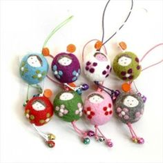 tiny felted dolls