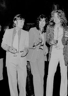 Robert Plant, the adorable Jimmy Page, and John Paul Jones!
