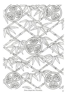 Japanese Floral Patterns and Motifs Japanese Embroidery, Crewel Embroidery, Textile Prints, Textiles, Quilt Blocks, Coloring Pages, Oriental, Templates, Quilts