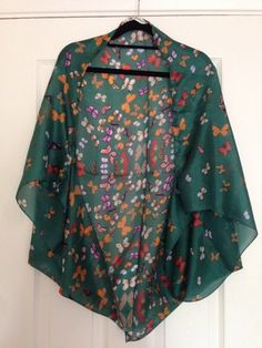 Butterfly Silk Scarf Cape Kimono