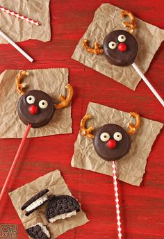 My 3rd idea is definitely reindeer Oreo pops! I love this idea and so will my viewers so excited for when I make this video!!