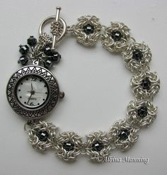 Flower Bracelet  Chainmaille Tutorial by AroundBeads on Etsy, $6.00