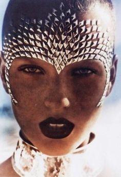 metalic woman