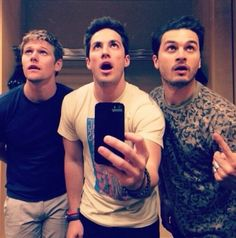 Zach Roerig, Michael Trevino and Michael Malarkey