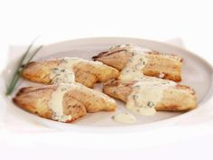 Broiled Tilapia with Mustard-Chive Sauce