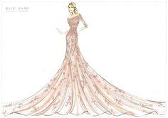 #Disney Princess Dresses Designer Sketch - #Aurora by Elie Saab
