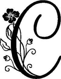monogram letter c clip clipart clipart suggest Lettering Tutorial, Lettering Design, Hand Lettering, Decorative Lettering, Alphabet Letters Design, Monogram Letters, Letter C Tattoo, Schrift Tattoos, Queen Tattoo
