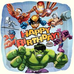 Marvel The Avengers Super Hero Squad Happy Birthday 18in