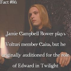 This probably makes his acting towards the character of Edward more realistic because he may be jealous