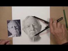 Realistic Drawing tutorial- Getting Proportions Drawn Correctly Art - Face Drawings Tutorial zum rea Realistic Drawing Tutorial, Realistic Drawings, Cool Drawings, Pencil Drawings, Drawing Faces, Drawing Tutorials, Realistic Eye, Video Tutorials, Cartoon Drawings