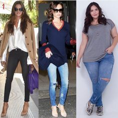 """Flávia Santos on Instagram: """"1. A calça skinny é uma calça justinha, que fica bem colada ao corpo e que surgiu primeiramente na sua versão jeans em 1950. Este não é o…"""""""