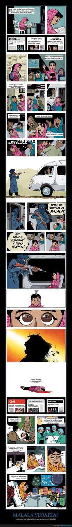 MALALA YUSAFZAI - Luchando por educación para la mujer en Pakistán