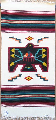 Chimayo Thunderbird weaving by Gloria Montoya