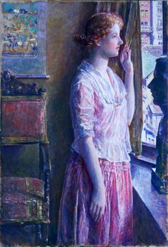 Easter Morning (Portrait at a New York Window), Childe Hassam