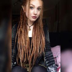 #fairy #dreads #dreadlocks #mightylocs #hairliketreeroots #redhead #elf #longdreads #wonderlocks #dreadslife #beautydreadlocks #dreadshare #wiccac #dreadsrule