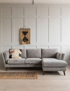 If you like to put your feet up on the sofa, the Richmond corner sofa is the perfect choice. Referencing the same influences as the matching sofa and armchair, the chaise is a comfortable seat for three people or has room for two of you to lie Corner Sofa Living Room, Grey Corner Sofa, Accent Walls In Living Room, Living Room Grey, Home Living Room, Apartment Living, Living Room Designs, Living Room Decor, Apartment Sofa