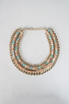 Braided Chain Collar Necklace Set