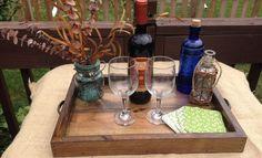 #ebay #Tray #Wooden #Rustic #Ottoman #Wood #Natural #Handmade #Breakfast #Bed #Food #Serving #Handmade