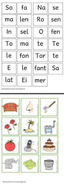 Heute gibt es einen kleinen Nachschub an Bild- und Wortkarten für die Silbenbögen. Einen guten Start an alle, bei denen es morgen wieder lo...