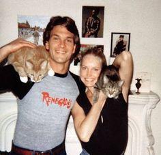 Patrick Swayze: good dancer, total badass, cat lover. amen.