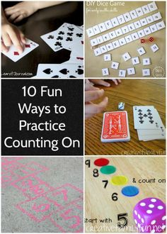 It's so important to practice math at home with your kids, but it's got to be fun! Here are some fun and easy ways to practice the math concept of counting on.