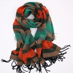 Wool Scarves-Ladies new long cotton tassel scarf in autumn and winter