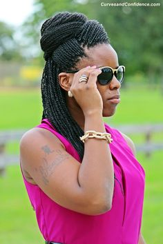 #Senegalese Twists Updo