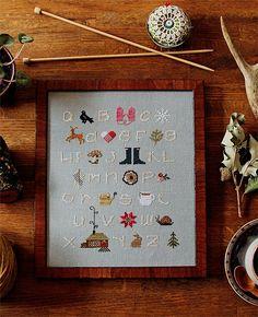 Winterwoods ABCs Cross Stitch Sampler Kit – Posie: Patterns and Kits to Stitch…